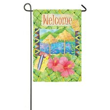 Welcome Island Jewels Coastal Flag Summer Fun Small Garden Flag Evergreen Ds