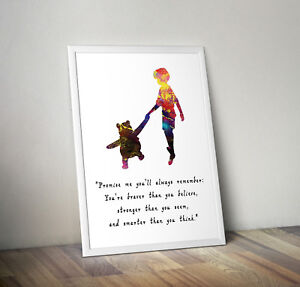 Winnie the Pooh, print, poster, disney, quote, wall art, inspirational