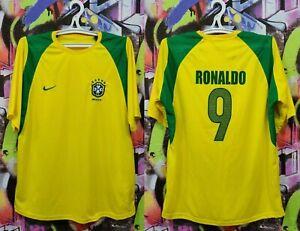 Brazil National Football Team Ronaldo #9 Soccer Jersey Shirt Top Replica Mens M