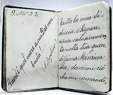 LIBRETTO (devozione a San Agostino) manoscritto
