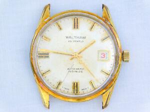Vintage Waltham Gold Plated 2782 ETA 25 Jewel Automatic Date Working Wristwatch