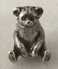 RARE EDWARDIAN 1909 SOLID SILVER PEPPER PEPPERETTE IN THE FORM OF A TEDDY BEAR