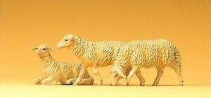 PREISER 1/25 SCALE FIGURES DOMESTIC ASSORTED SHEEP   47057