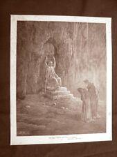 Incisione di Gustave Dorè del 1890 Angelo custode Divina Commedia Purgatorio