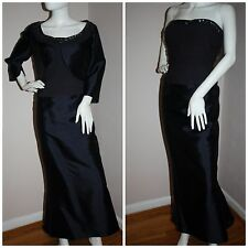 Teri Jon Rickie Freeman evening dress + matching bolero jacket ball gown L XL 16