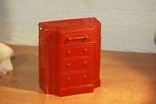 Vintage Park Sherman Red Dresser Hard Plastic BANK Still Piggy