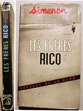 SIMENON/LES FRERES RICO/PRESSES DE LA CITE/1952/EDITION ORIGINALE