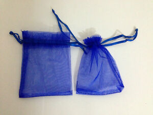 "Hot sale 50pcs 3"" x 4"" blue Gift Bags Jewelry Pouch Wedding Favor"