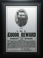 NED KELLY $8000 REWARD POSTER FRAMED