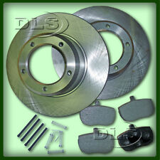 LAND ROVER DEFENDER 90 to`86 SOLID FRONT BRAKE DISC AND PAD SET