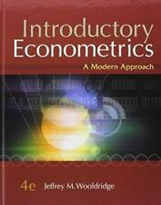 Introductory Econometrics: A Modern Approach by Jeffrey M Wooldridge (Mixed med…