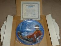 "Star Trek TOS Hamilton Collection 8.5"" diameter Plate Scotty 46650 1983 COA"