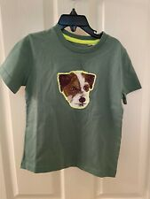 Mini Boden Boys Green Sprout Jack Russel Dog Top T-Shirt Shirt Size 4-5 yrs NWT