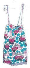 Sz S - Billabong Turquoise & Purple Jumper Skirt Dress w/Overall Straps