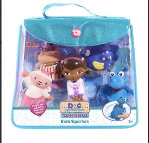 Disney Store Doc McStuffin's Blue Bath Squirters Set Bag - New