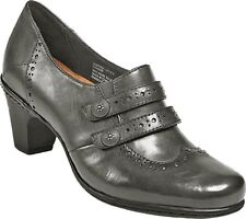 COBB HILL Ladies SALLY Leather Shooties GREY Sz. 9.5 MEDIUM  NIB