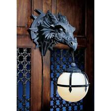Gothic Dragon Head Globe Lamp Medieval Electric Wall Sconce