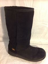 Rocket Dog Black Mid Calf Suede Boots Size 4