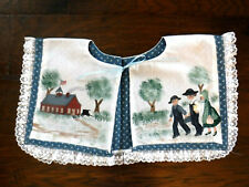 Handmade Sewn and Painted Collar Antique-Look of School Children