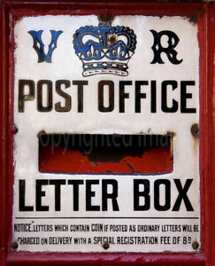 POST OFFICE LETTER BOX OLD VINTAGE STYLE METAL TIN SIGN POSTER WALL PLAQUE