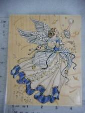STAMPS HAPPEN Wood Mounted Rubber Stamp ANGEL OF HARMONY #90232 Laine Gordon  47