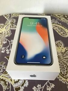 SCATOLA PER APPLE IPHONE X 10 SILVER ARGENTO  64GB 256GB VUOTA NO IMEI