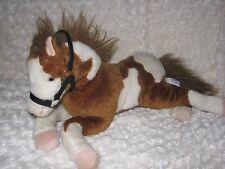 PASSPORT HUGFUN HUG FUN STUFFED PLUSH APPALOOSA WHITE BROWN SPOT HORSE PONY