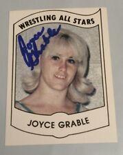1982 Wrestling All-Stars Series B Joyce Grable #34 Very Rare Auto