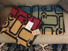 New! $189 Woolrich Flock Of Sheep Multi Color Wool Throw Blanket. Made In USA