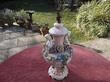 Antico Cherub Lampada/Porcellana Cherubino/Elettrico Lanterna/Lampada in Ceramica Cherubino.
