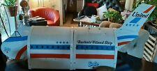 Vintage Barbie United Airlines Friend Ship Airplane Mattel w/ Tea Cart etc.