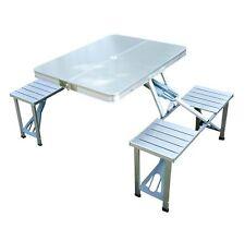 Outsunny - TAVOLO da Campeggio Pieghevole con 4 Sedie Tavolino da picnic Argento