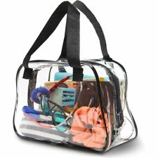 Clear Stadium Approved Tote Bag, Transparent Small Handbag for Travel & Concert