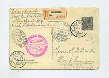 1936 Niederlande Zeppelin LZ 129 R - Postkarte der 10. Nordamerikafahrt SI 441B