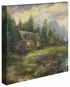 Thomas Kinkade Studios Father's Perfect Day 14 x 14 Wrapped Canvases