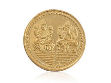 Gorgeous Laxmi Ganesha Pure Gold Coin In Solid Stamped 24Karat 995 Yellow Gold