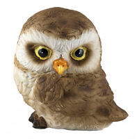 """Cute Mini Baby Owl With Head Turned Figurine Statue 2.25"""" High Resin New"""