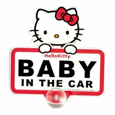 SEIWA KT282 Car Accessory Hello Kitty Swing Baby In The Car Sign Sticker Japan