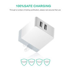 Dual USB Wall Charger Fast Travel USB Charger Plug for iPhone Samsung Galaxy HTC