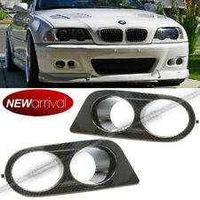 For 01-06 E46 M3 Ham Style Carbon Fiber Painted Driving Fog Light Cover Covers