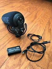 Rode VideoMic Pro+ Plus Shotgun Professional Condenser Microphone VMPR+ Battery