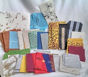 100 Grams Assorted/Scrappets/Mulberry Paper/Decoupage/Craft/130pc average