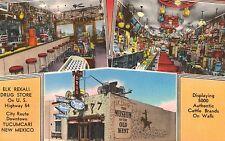 Tucumcari,NM,Elk Rexall Drug Store,Soda Fountain,Museum,Roadside,Linen,c.1940s