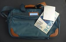 Vintage Jordache Soft Luggage Travel Suitcase Briefcase Bag Tote Blue Green NEW!