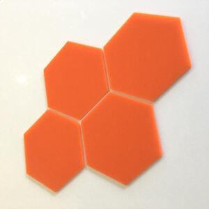 Hexagonal Acrylic Wall Tiles - Orange