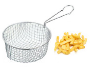 19cm Stainless Steel Chip Pan Basket Deep Fryer Basket For Chips Vegetable Onion