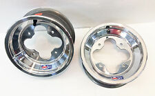 "DWT A5 10"" 10x5 3+2 Front Aluminum Wheels Rims Polished YFZ450 Banshee Raptor"