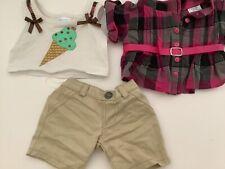 3 Piece Build A Bear Outfit Tank Top Shirt Shorts
