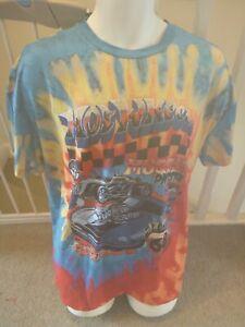 Ladies Shein Tie-Dye Hot Wheels T-Shirt (UK Size M)