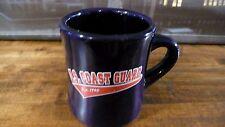 U.S. COAST GUARD BLUE DINER STYLE HEAVY COFFEE MUG